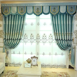Decorative Polyester Embroidered Beautiful Style Sheer Curtain For Livingroom Bedroom