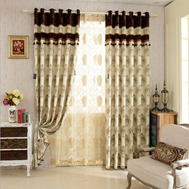 Simple Modern Decoration Style Contrast Color Drape/ Curtain