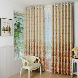 Floral Printed Modern Style Curtains for Bedroom/Kitchen