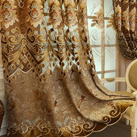European Classic Style Embroidered Luxury Curtain/Drapes for Livin'room