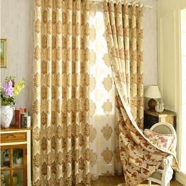 European Style Two-color Embroider Design Decorative Drapes/Curtain