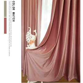 Flocking Suede Warm Curtains Suitable for Different Shade Head