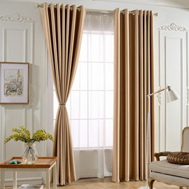 Pure Color Flocking Suede Drapes Smooth Skin-Friendly Curtain