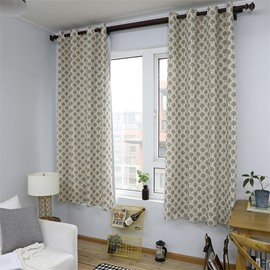 Blackout Small Tree Printed Grommet Top Custom Curtain