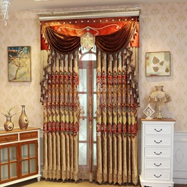 Shining Golden Embroidery Royal Room Darkening Curtains 2 Panel Set 84 Inches Wide and 84 Inches Elegant Look and Silky Soft Touch Machine Wash Accepted Without Ever fading Cracking Peeling or Flaking