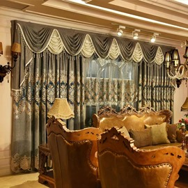 Blackout Luxury Beaded Curtains Drapes Classical Living Room Bedroom Window Curtains No Pilling No Fading No off-lining