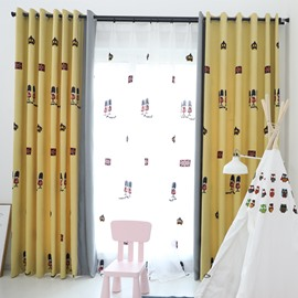 Classic Design Yellow Blackout Curtain Bedroom Drapes
