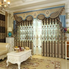 European Style Hollowed-out High Quality Embroidered Curtain Panels