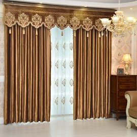 Luxury Elegant Crushed Velvet Blackout Custom Ochre Curtains 2 Panel Set 84 Inches Wide and 84 Inches Long with Classy Thick Chenille Ever Fading Cracking Peeling or Flaking Prevents UV Ray Excellent Performance on Room Darkening