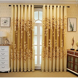 European Ventilate Living Room Blackout Curtains 260g/m² Polyester 80% Shading Rate and UV Rays Environment-Friendly and Pollution-Free Material No Pilling No Fading No off-lining