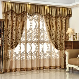 European Ventilate Curtain Custom Living Room Grommet Curtains 100% Shading Rate and UV Rays No Pilling No Fading No off-lining