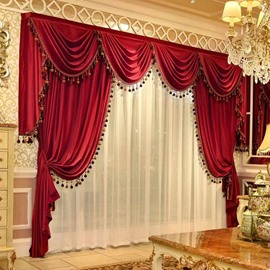 Luxury Elegant Velvet Blackout 2 Panels Curtains Never Fading Cracking Peeling or Flaking Prevents UV Ray Excellent Performance on Room Darkening
