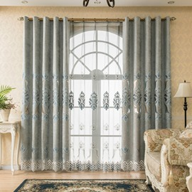 European Thick Chenille Jacquard Shading Curtains for Living Room Bedroom Blackout Curtain Custom 2 Panels Drapes Decoration No Pilling No Fading No off-lining