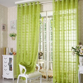 Elegant Contemporary Light Green Custom Sheer Curtain