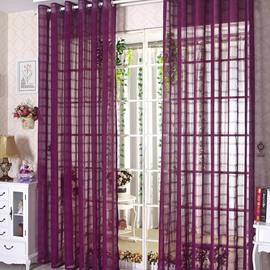 Elegant Contemporary Purple Custom Sheer Curtain