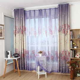 High Quality Fabulous Trees Printing Custom Sheer Curtain