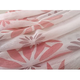 High Quality Fabulous Elegant Pink Sunflower Pattern Custom Sheer Curtain