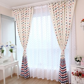 Best Selling Romantic Lovely Dots One Piece Custom Sheer Curtain