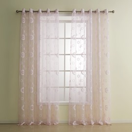 Fantastic Pretty Lovely Pink Custom Sheer Curtain