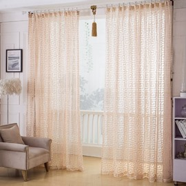 High Class Elegant Decorative Custom Sheer Curtain