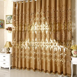 Luxury European Style Pierced Custom Sheer Curtain