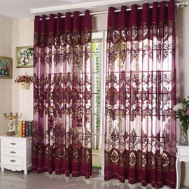 Classical Luxury Purple Custom Sheer Curtain
