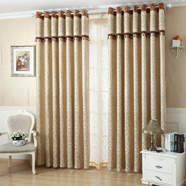 European Style Contemporary Beige Custom Sheer Curtain