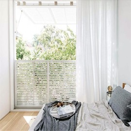 Concise and Pastoral Style Solid White Custom Living Room Sheer Curtain