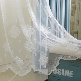 White Lace Window Screen Custom-made Living Room Sheer