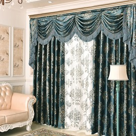 Embroidery Noble Luxury Curtain Living Room and Bedroom Decorative Custom Sheer Curtain