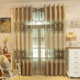 Classic Exquisite Embroidery Pattern Custom Sheer Curtain