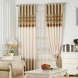 Luxury Classical and European Style Living Room Custom Sheer Curtain