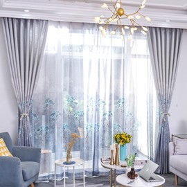 Breathable and Decorative Natural Style Sheer Curtain