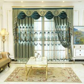 Luxury Rustic Elegant Grommet Semi Sheer Curtains