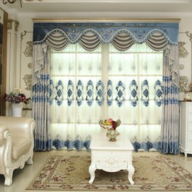 Royal Design Classic Embroidery Sheer Curtain for Living Room