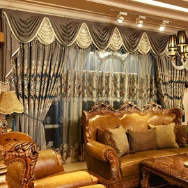 Classical Luxury Organza Grommet Top Living Room and Bedroom Custom Sheer Curtain