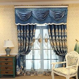 Flower Embroidery Window Grommet Top Sheer Curtains for Living Room