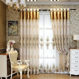 Vintage Floral Living Room Bedroom Window Custom Sheer Curtains