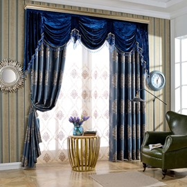 European Classic High Quality Organza Decorative Custom Sheer Curtain for Living Room
