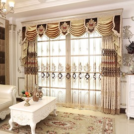 Luxury and Elegant Embroidery High Quality Chenille Sheer Curtains