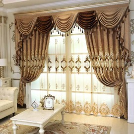 Elegant High Quality Coffee Color Breathable Sheer Curtains