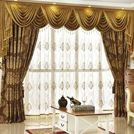 Luxurious and Delicate Embroidery Decorative Net Sheer Custom Window Curtains with Fancy and Durable Chiffon Material 30%Shading Rate for Good Ultraviolet-Proof Effect