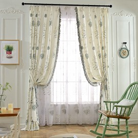European Modern Living Room Breathable Sheer Curtains 84W 84L Inches Polyester 30% Shading Rate and UV Rays Environment-Friendly and Pollution-Free Material Ever Fading Cracking Peeling or Flaking