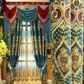European Luxury Elegant Embroidery Sheer Curtain for Living Room Bedroom Decoration Custom 2 Panels Breathable Voile Drapes No Pilling No Fading No off-lining