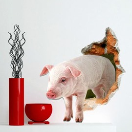 Cute Stunning 3D Pig Design Wall Stickers
