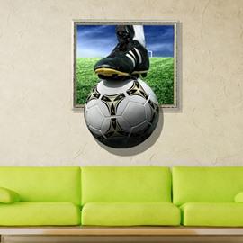 New Arrival Glomorous 3D Football Wall Sticker