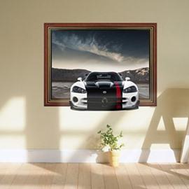 Stunning 3D Sports Car Pattern Wall Sticker