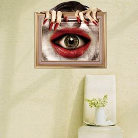 New Style Creative Stunning 3D Eye Mouth Wall Sticker