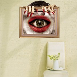 New Style Creative Stunning 3D Eye Mouth Wall Sticker