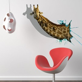 Stunning Creative Giraffe Head Print 3D Wall Sticker